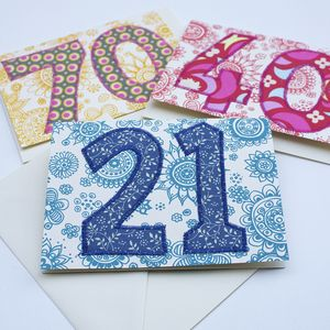 Special Occasion Numbered Cards - birthday cards