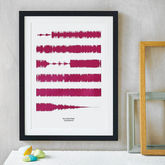 Personalised Favourite Song Soundwaves Print - anniversary gifts