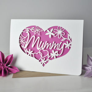 Mum, Heart And Flowers Card - seasonal cards