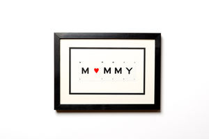 Mummy Frame With Heart - gifts for the home