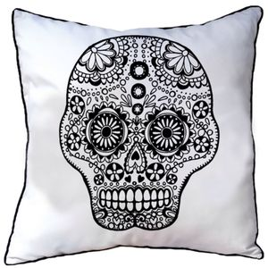 Cushion To Colour In With Skull