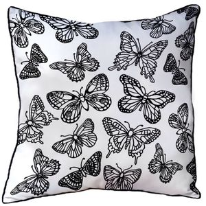 Cushion To Colour In With Butterflies
