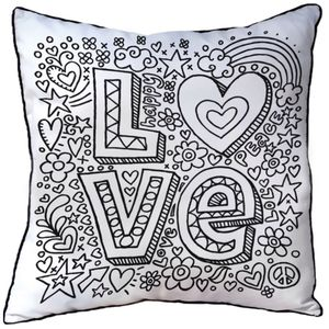 Cushion To Colour In Love - cushions