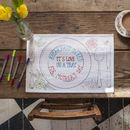 Doodle Placemat Set To Personalise