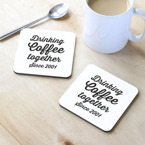 Personalised Drinking Together Coaster - what's new