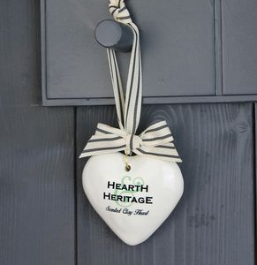 Scented Clay Hanging Heart, Choice Of Perfumes - hanging decorations