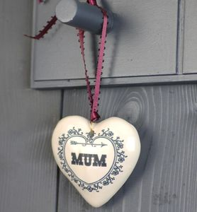 Birthday Gift For Mum Scented Clay Hanging Heart