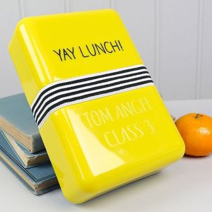 Engraved Happy Jackson Lunch Box - lunch boxes & bags