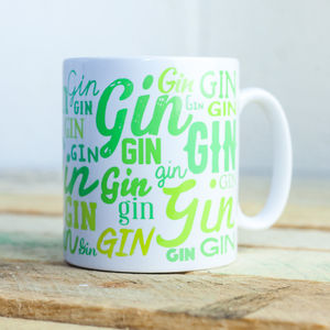 'Lots Of Gin' Mug - tableware