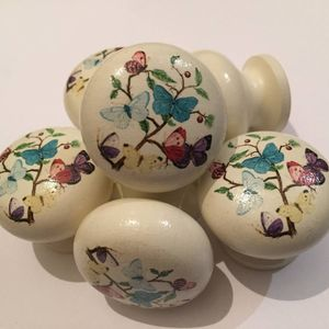 Butterfly Mortice Door Drawer Cupboard Knob - door knobs & handles