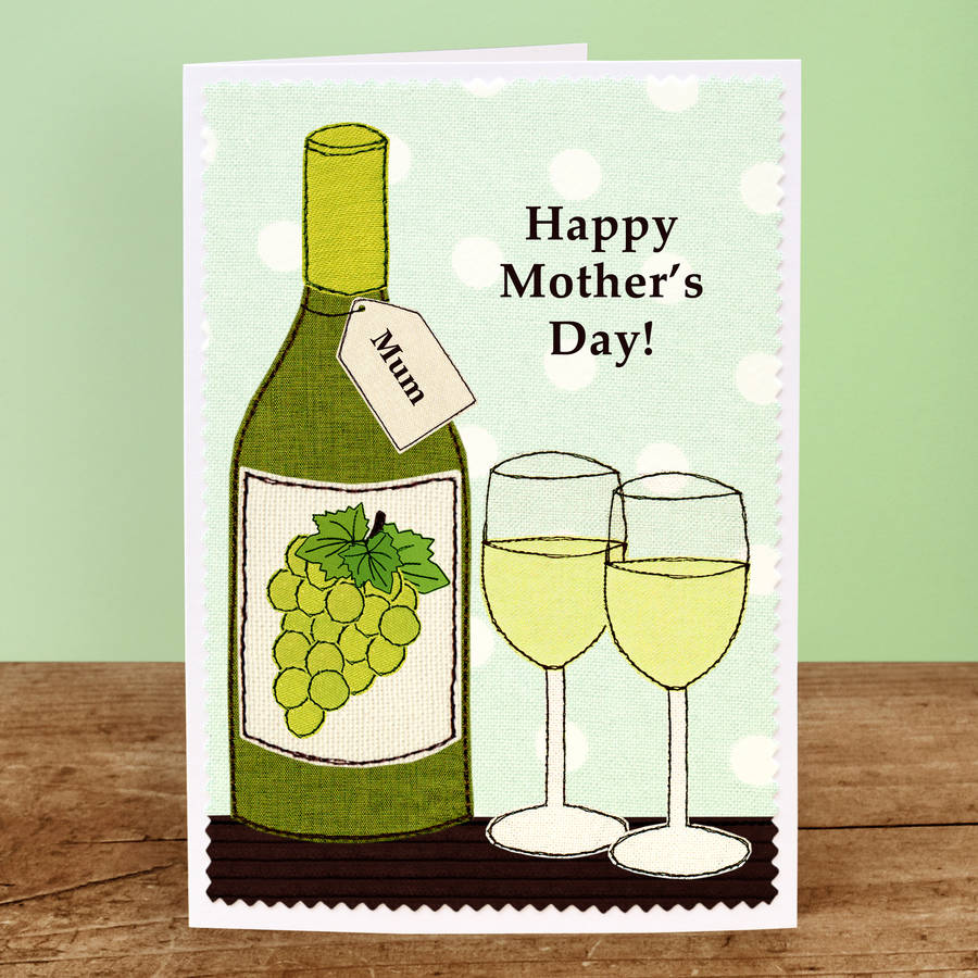 'birthday Wine' Personalised Card By Jenny Arnott Cards