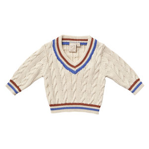 Baby Boys Rust Tipping Cricket Jumper