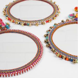 Boho Beaded Mirror - home accessories