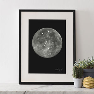 Zodiac Constellation Print - best for birthdays