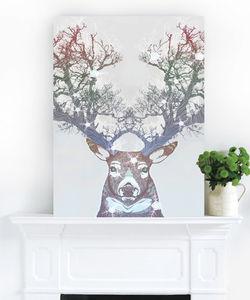 Deer Wonder, Ready To Hang Canvas Art - contemporary art