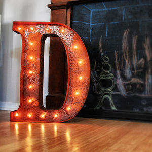 Vintage Letter Light - room decorations