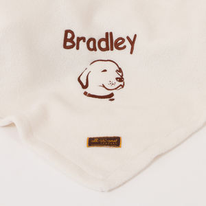 Personalised Labrador Blanket