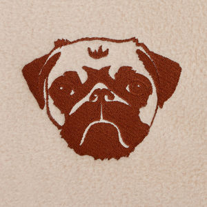 Personalised Pug Blanket