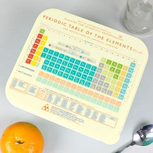 Retro Periodic Table Lunch Box - lunch boxes & bags