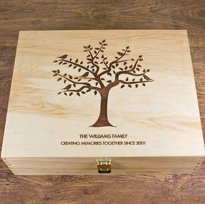Our Family Tree Keepsake Box - interests & hobbies