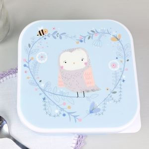 Square 'Woodland Friends' Owl Lunch Box