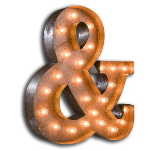 Vintage Ampersand Light - shop by price