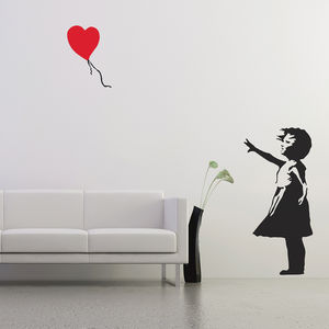 Banksy Balloon Girl Wall Stickers - wall stickers