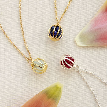 Meaningful Gemstone Cage Necklaces