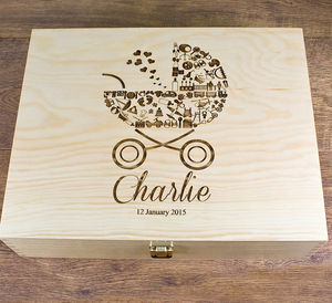 Personalised 'Babies' Memory Box - storage & organising