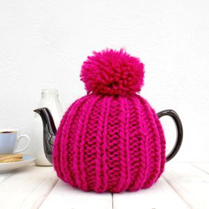 Six Cup Retro Hand Knit Tea Cosy - kitchen