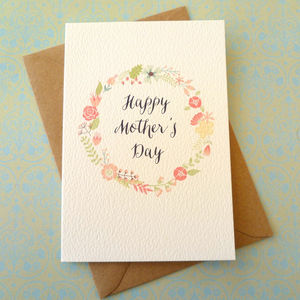Flower Circle Mother's Day Card - cards & wrap