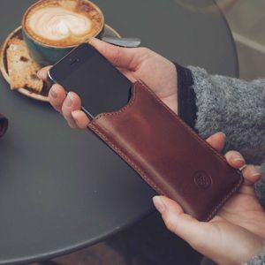 iPhone Five/ 5C / 5S Leather Sleeve. 'The Sibilla' - gadget-lover