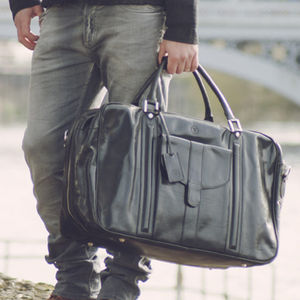 The Finest Italian Men's Leather Suitcase. 'Maurizio' - holdalls & weekend bags