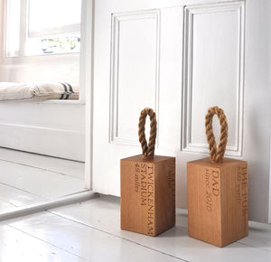 Personalised Mile Stop Door Stop - door stops