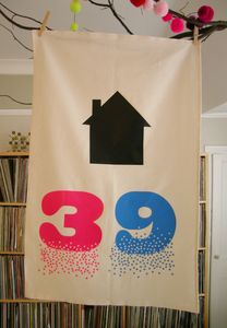 Personalised House Number Tea Towel