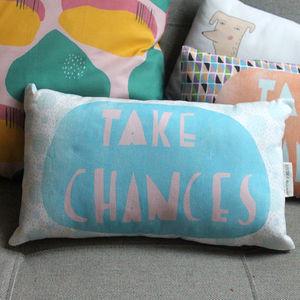 Take Chances Cushion