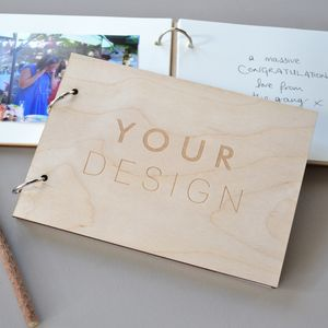 Custom Wooden Book - albums & guest books