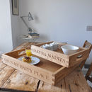 Personalised Oak Tray