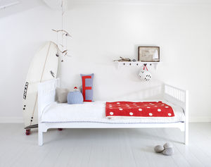 White Wood Scandinavian Single Bed - children's room