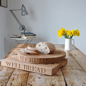 Personalised Oak Slatted Bread Board - aspiring chef