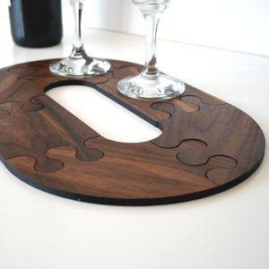 Walnut Wood Jigsaw Table Trivet
