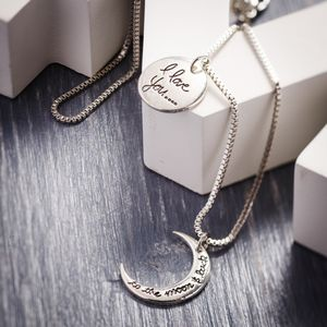 'I Love You To The Moon And Back' Divideable Necklace