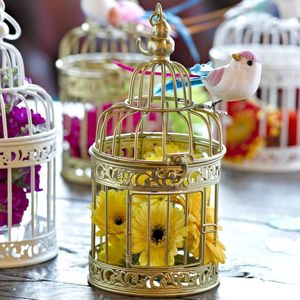 Gold Birdcage Table Decoration