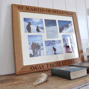 Personalised Oak Photo Collage Frame - 5th anniversary: wood