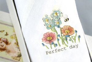 Ladies Handkerchief: Perfect Day