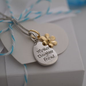 Mother Daughter Charm Necklace