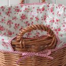 Oilcloth Lined Laundry Basket