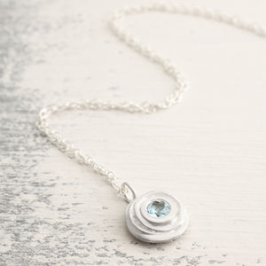 Aquamarine And Silver Pendant - birthstone jewellery gifts