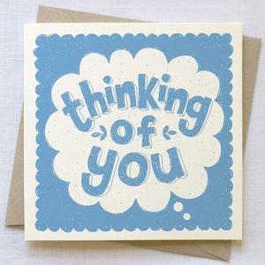Thinking Of You Card - get well soon cards