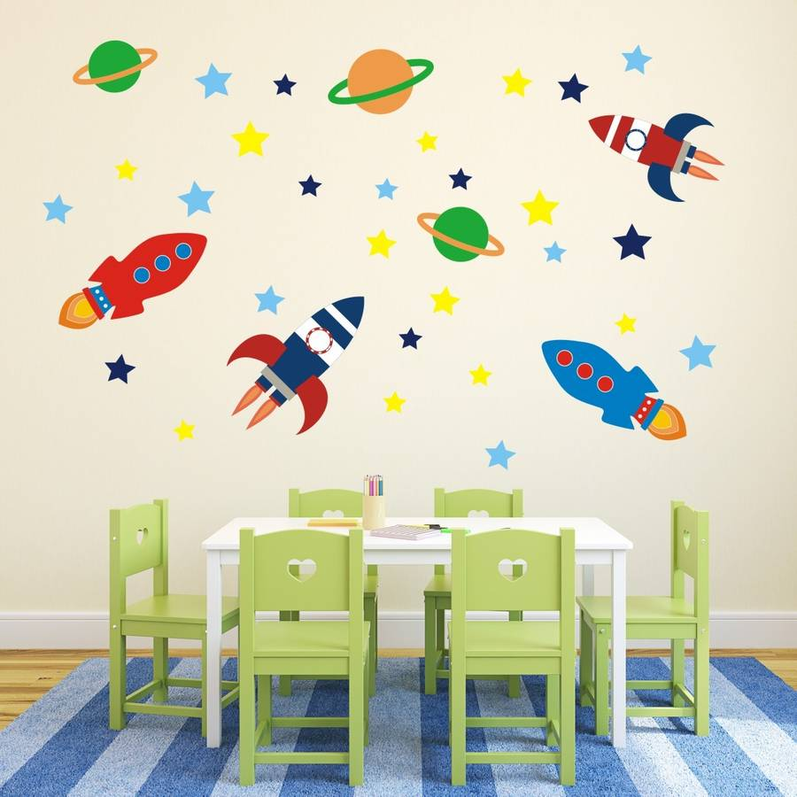 outer space wall sticker set by mirrorin notonthehighstreet com rh notonthehighstreet com